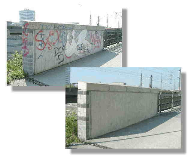 Graffiti auf Beton