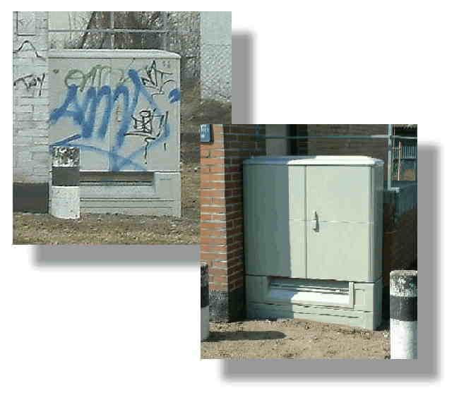 Graffiti auf Stromkasten