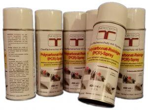 NORTECH Polycarbonat-Reiniger-Spray (PCR) Vorratspackung